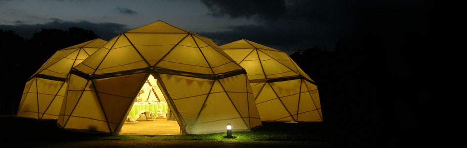 multi-tri dome at night