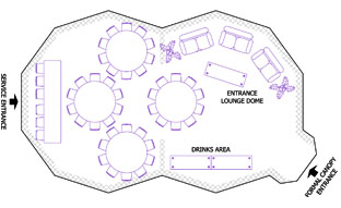 example layout of double dome