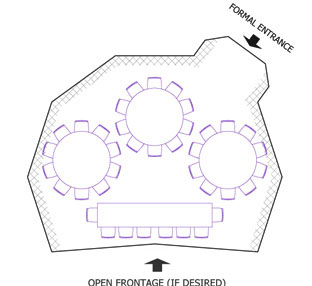 example layout of single dome